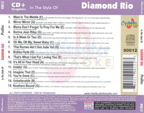 Chartbuster Karaoke: Diamond Rio, Vol. 1