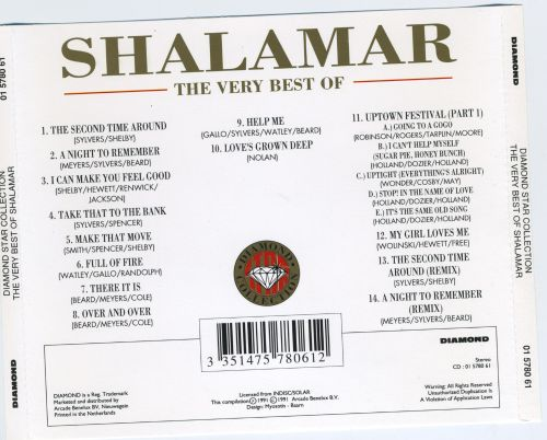 The Very Best of Shalamar [Arcade]