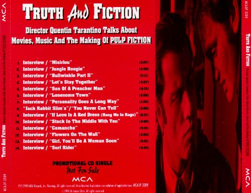 Truth and Fiction: Director Quentin Tarantino Talks About Movies, Music and
