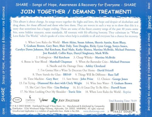 Share: Songs of Hope, Awareness and Recovery for Everyone