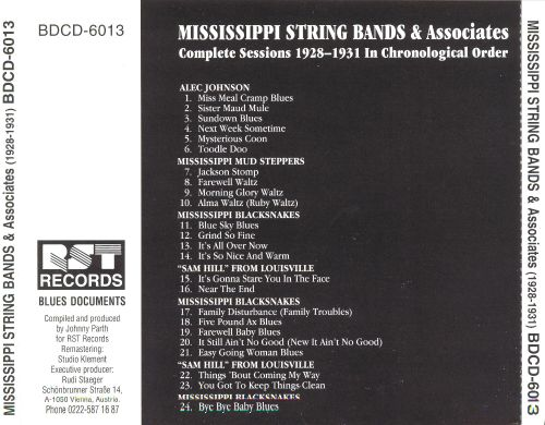 Mississippi String Bands and Associates (1928-1931): Complete Recorded Works