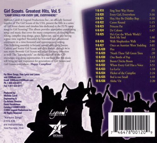 Girl Scouts Greatest Hits, Vol. 5: Camp Songs for Every Girl