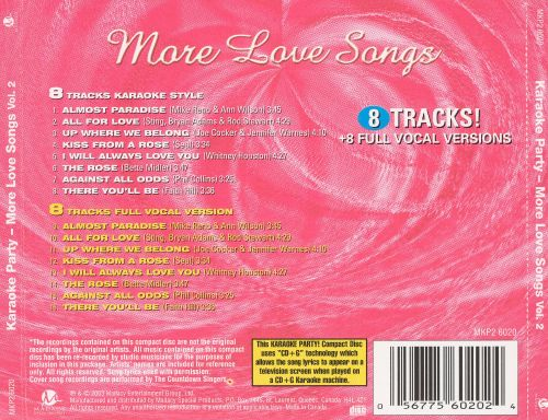 Karaoke Party: More Love Songs, Vol. 2