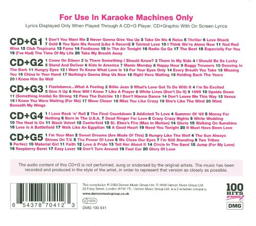 100 hits presents 80 39 s karaoke various artists songs for 80 s house music list
