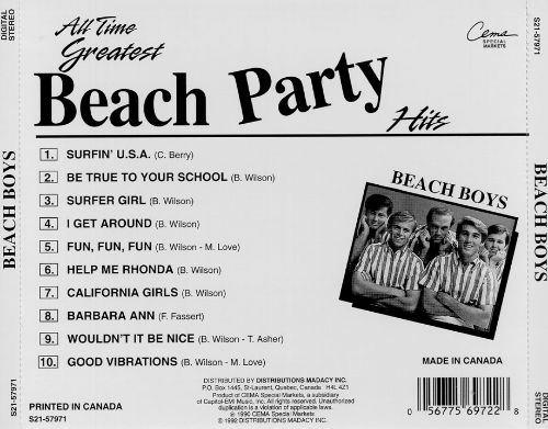 All-Time Greatest Beach Party Hits