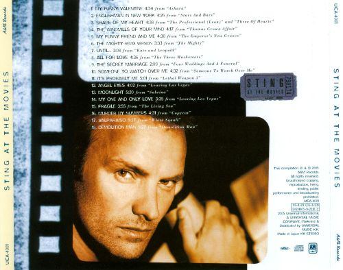 My Funny Valentine At The Movies Sting Release Info Allmusic