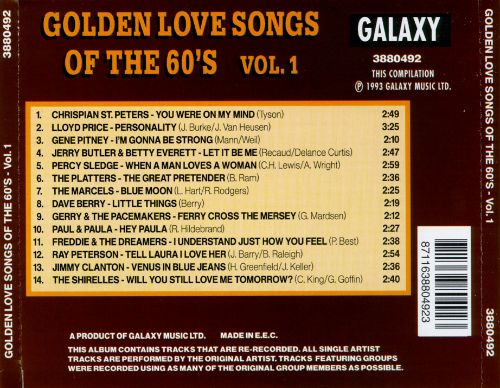 Golden Love Songs of the 60's