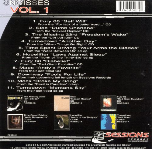 Sessions Records Sampler: Snoisses, Vol.1