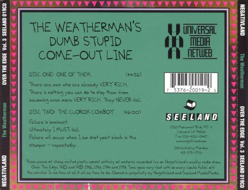 Over the Edge, Vol. 3: The Weatherman's Dumb Stupid Come Out Line