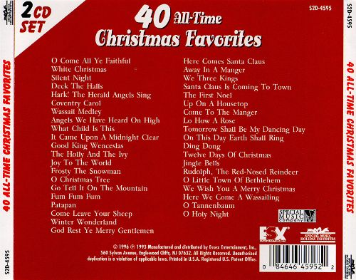 40 All Time Christmas Favorites