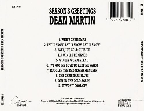 Season's Greetings from Dean Martin