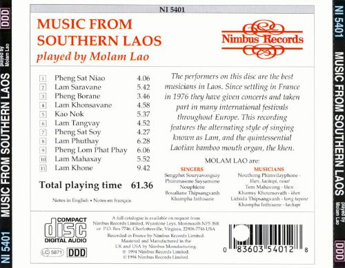 Music from Southern Laos Played by Molam Lao