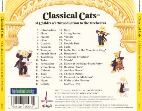 Classical Cats: A Children's Introduction to the Orchestra