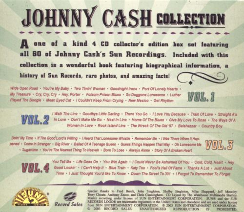 Johnny Cash Collection [Sun]