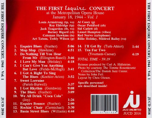 The First Esquire Concert, Vol. 1