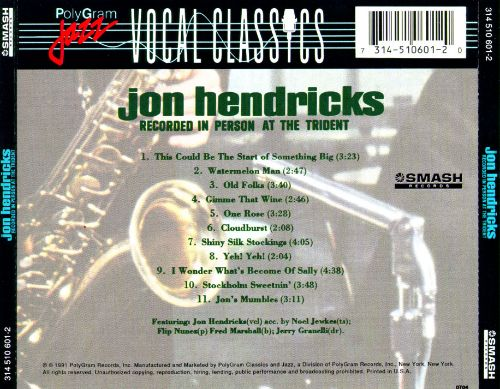 Jon Hendricks Recorded in Person at the Trident