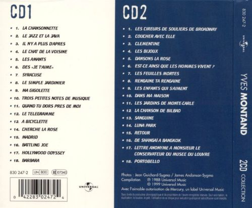 Collection Chansons