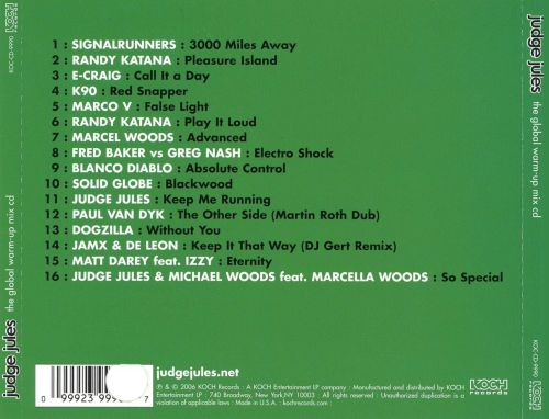 The Global Warm Up Mix CD