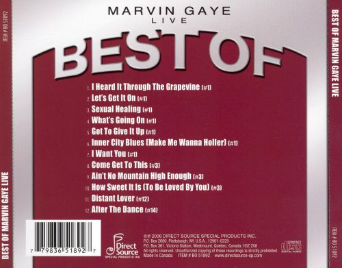 Best of Marvin Gaye: Live [Direct Source]