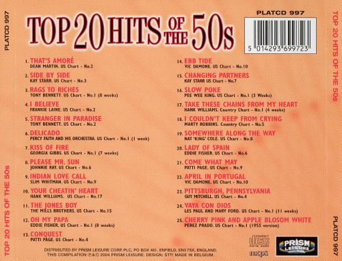 Top 20 Hits of the '50s [Prism #1]