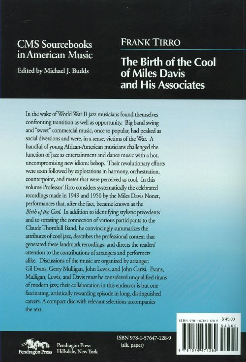 The Birth of the Cool of Miles Davis and His Associates, Vol. 5