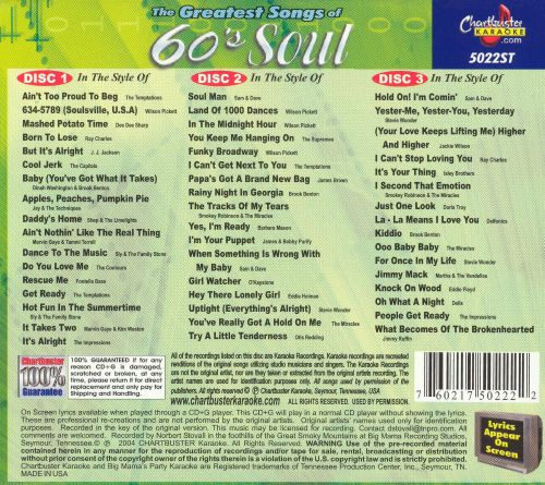 Chartbuster Karaoke: Greatest Songs of 60's Soul