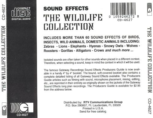 The Wildlife Collection: Nature Sound Effects