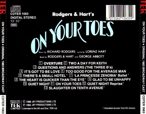 On Your Toes [1983 Broadway Cast]