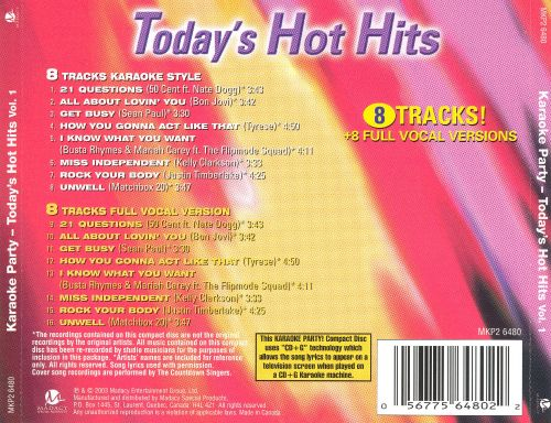 Karaoke Party! Today's Hot Hits, Vol. 1