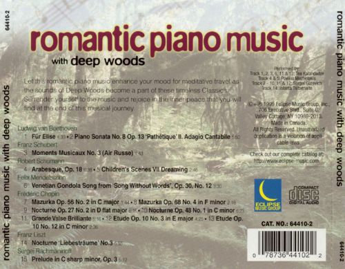 Romantic Piano Music with Deep Woods