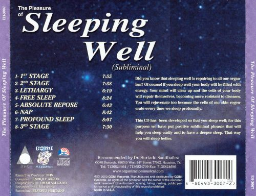 Pleasure of Sleeping Well