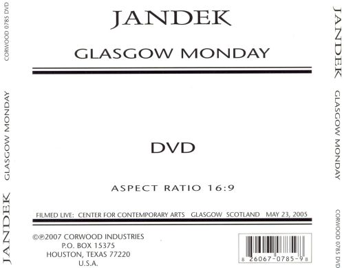 Glasgow Monday [DVD]