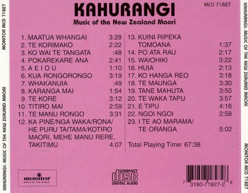 Kahurangi: Music of the New Zealand Maori