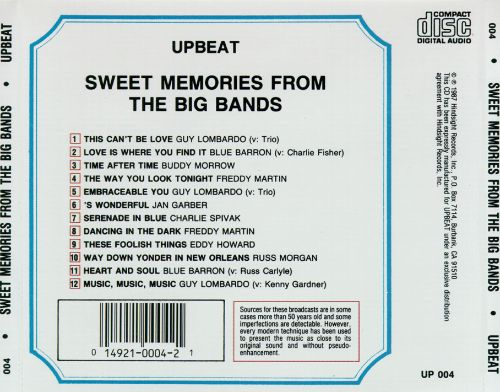 Sweet Memories from Big Bands: 12 Hits