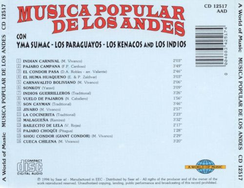 Popular Music of the Andes