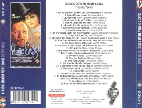 Classic German Movie Songs: The UFA Years