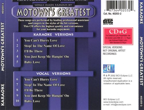 Songs Made Famous By Motown's Greatest