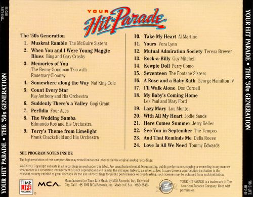Your Hit Parade: The '50s Generation