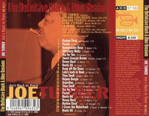 The Definitive Black & Blue Sessions: Joe's Back in Town