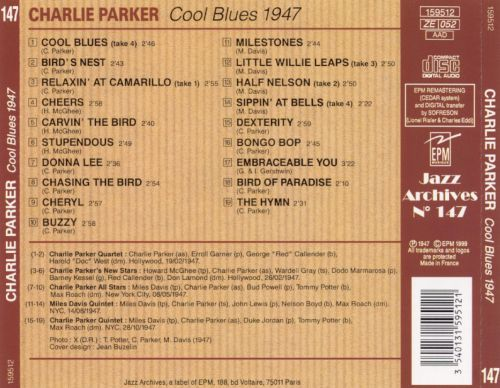 Cool Blues [Jazz Archives] - Charlie Parker | Releases