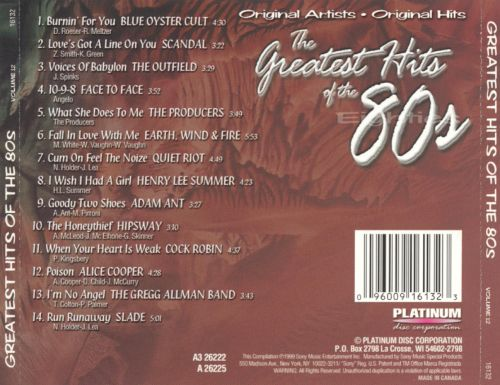 The Greatest Hits of the '80s, Vol. 12