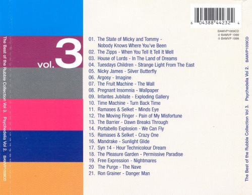 The Best of the Rubble Collection, Vol. 3: Psychedelia, Vol. 2