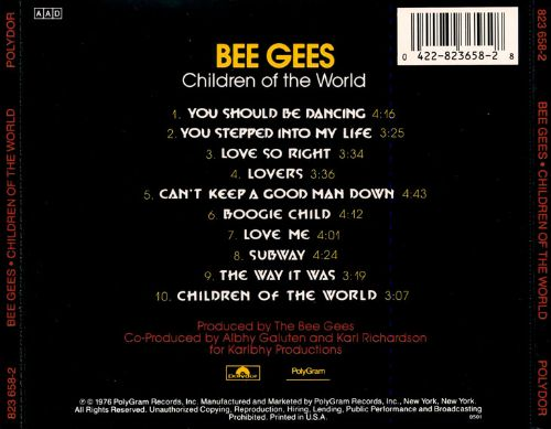 Children of the World - Bee Gees | Songs, Reviews, Credits ...