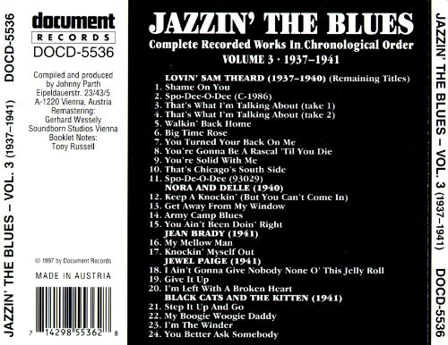 Jazzin' the Blues, Vol. 3 (1937-1941)