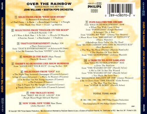 Over the Rainbow: Songs from the Movies