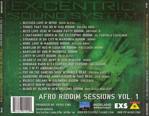 Afro Riddim Sessions, Vol. 1