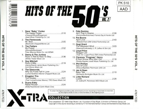 Hits of the 50's, Vol. 2 [Elap]