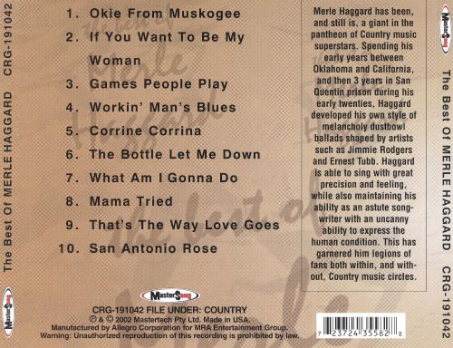 Best of Merle Haggard [Columbia]