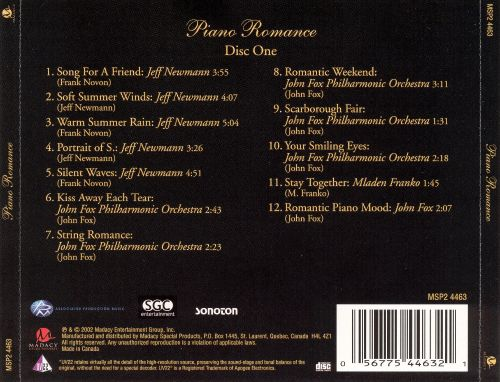 Piano Romance [Madacy Disc 1]