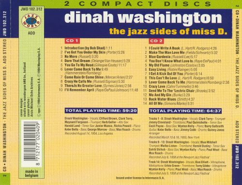 Jazz Sides of Miss D